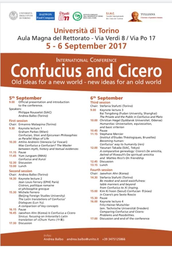 Confucius and Cicero poster